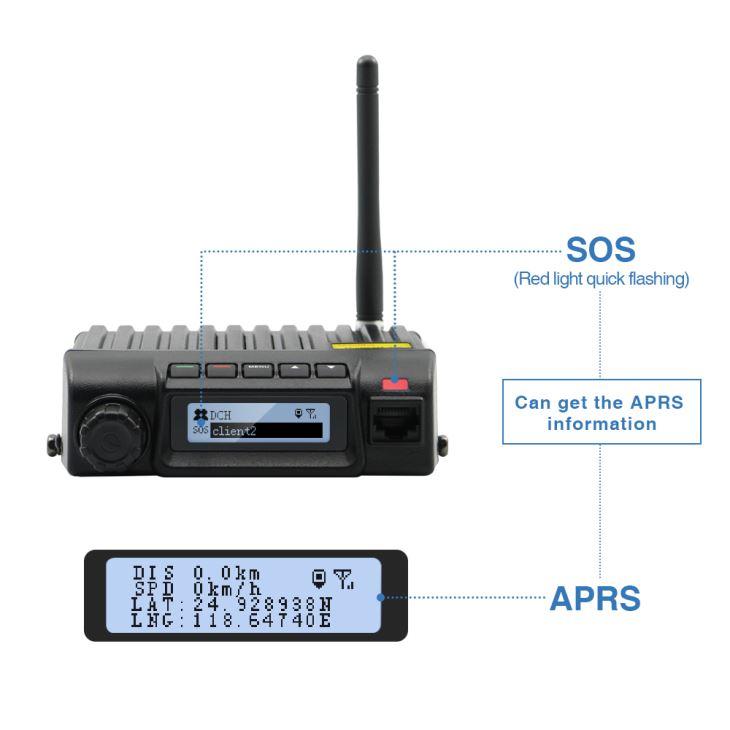 Walkietalkie móvel intrinsecamente seguro de rádio da maneira de GPS 2 do veículo dos rádios para conduzir