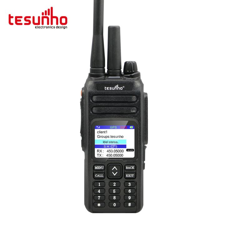 WCDMA e VHF UHF Walkie Talkie para bombeiro