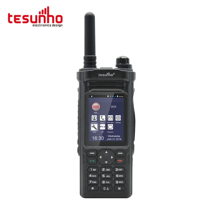 TH-588 Walkie Talkie com telefone celular