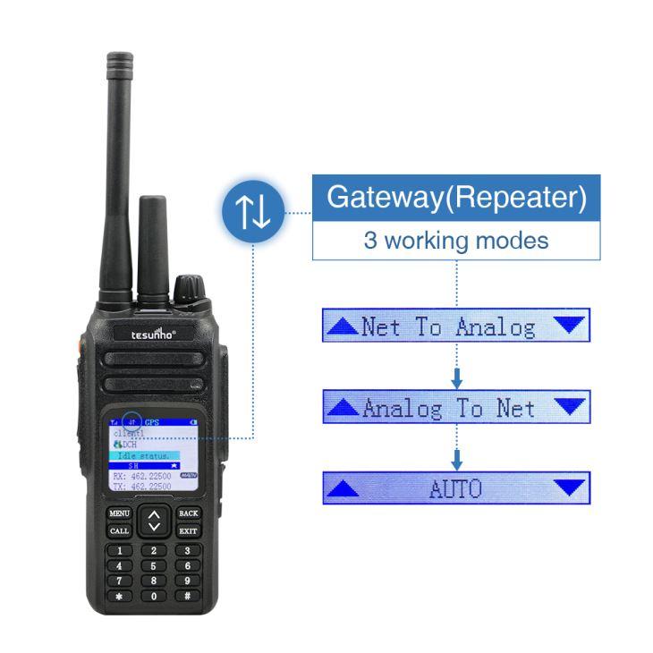 Walkietalkie profissional da rede do VHF / UHF para forças armadas