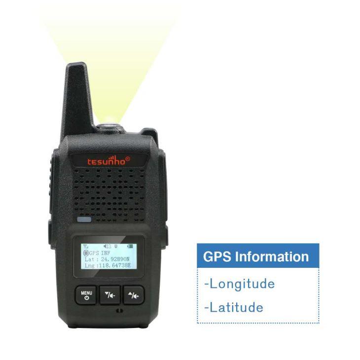 Rádio em dois sentidos pequeno com serviço de programação