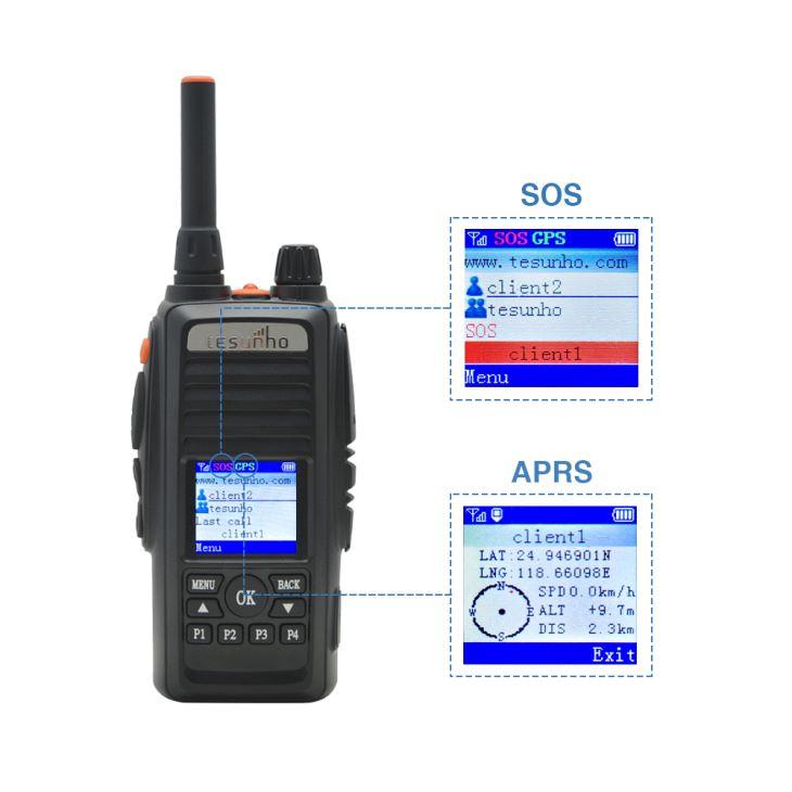 TH388 2G 3G 4G GSM WCDMA LTE Cartão SIM Rádio Em Dois Sentidos com Botão de Emergência Walkie Talkie para a Segurança