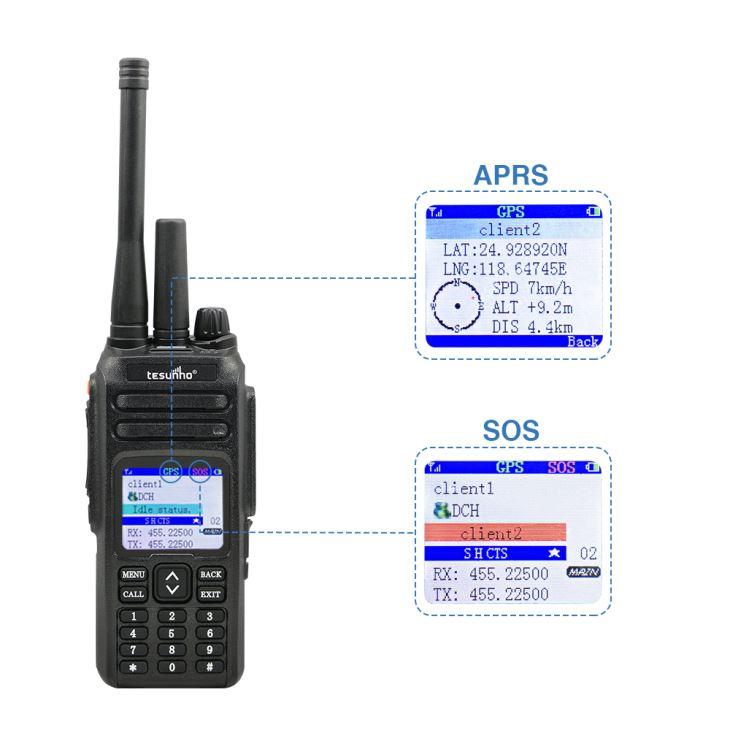 Uhf VHF em dois sentidos sistema de despacho de rádio